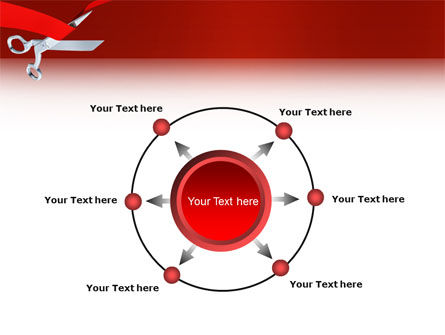 Cutting Red Tape PowerPoint Template Slide 7