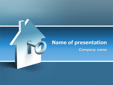 Real Estate: Keyhole PowerPoint Template #02830