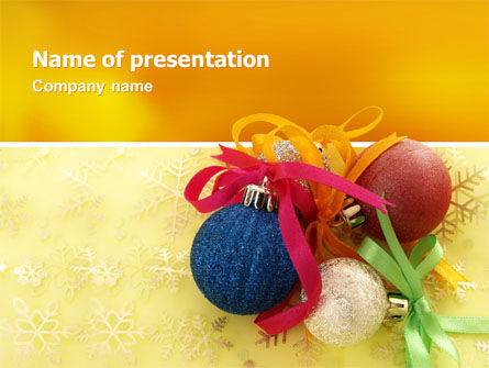 Christmas Tree PowerPoint Template, 02831, Holiday/Special Occasion — PoweredTemplate.com