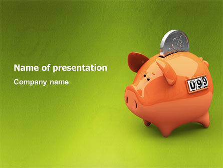 Financial/Accounting: Piggy-bank PowerPoint Template #02832