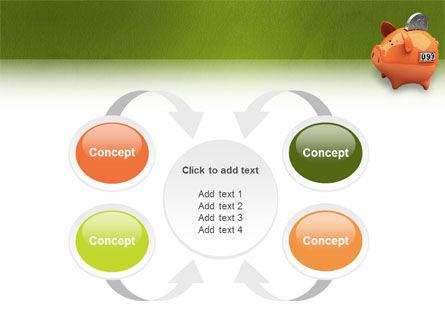 Piggy-bank PowerPoint Template Slide 6
