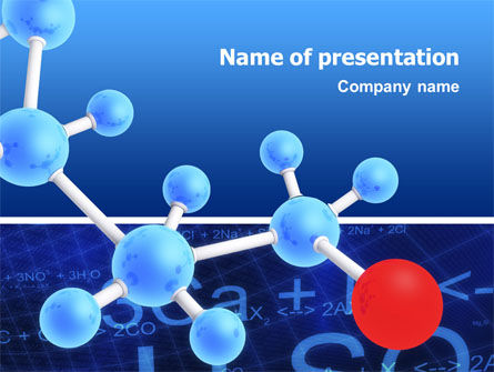 Technology and Science: Modelo do PowerPoint - esqueleto molecular #02833