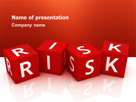 Business: Red Risk Cubes PowerPoint Template #02837