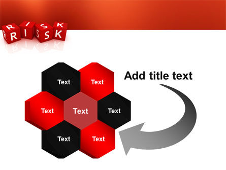 Red Risk Cubes PowerPoint Template Slide 11