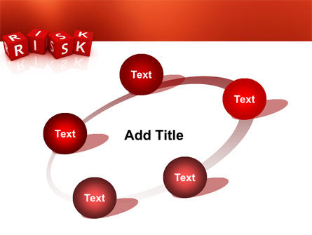 Red Risk Cubes PowerPoint Template Slide 14