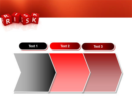 Red Risk Cubes PowerPoint Template Slide 16