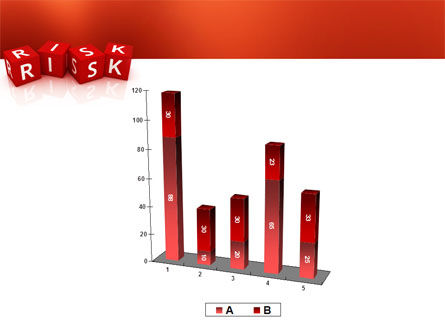 Red Risk Cubes PowerPoint Template Slide 17