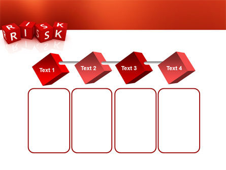 Red Risk Cubes PowerPoint Template Slide 18