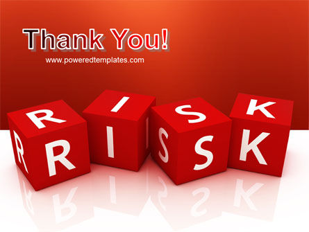 Red Risk Cubes PowerPoint Template Slide 20