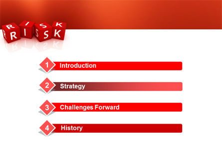 Red Risk Cubes PowerPoint Template, Slide 3, 02837, Business — PoweredTemplate.com