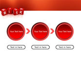 Red Risk Cubes PowerPoint Template#5