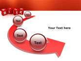 Red Risk Cubes PowerPoint Template#6