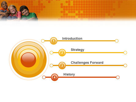 Kids On the Orange World Background PowerPoint Template, Slide 3, 02838, People — PoweredTemplate.com