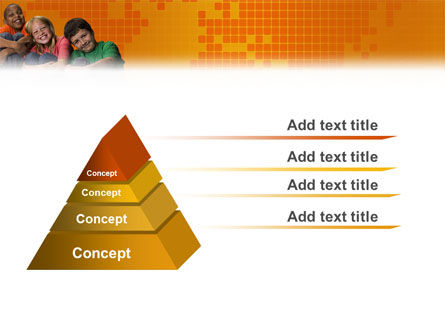 Kids On the Orange World Background PowerPoint Template Slide 4