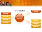 Kids On the Orange World Background PowerPoint Template#15