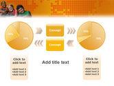 Kids On the Orange World Background PowerPoint Template#16