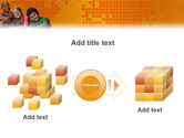 Kids On the Orange World Background PowerPoint Template#17