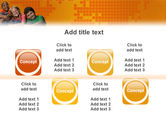 Kids On the Orange World Background PowerPoint Template#18