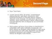 Kids On the Orange World Background PowerPoint Template#2