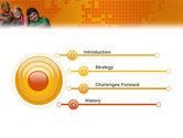 Kids On the Orange World Background PowerPoint Template#3