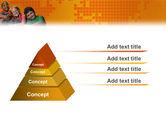 Kids On the Orange World Background PowerPoint Template#4