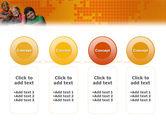 Kids On the Orange World Background PowerPoint Template#5