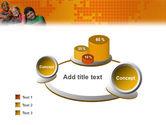 Kids On the Orange World Background PowerPoint Template#6