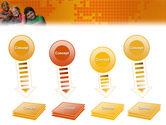 Kids On the Orange World Background PowerPoint Template#8