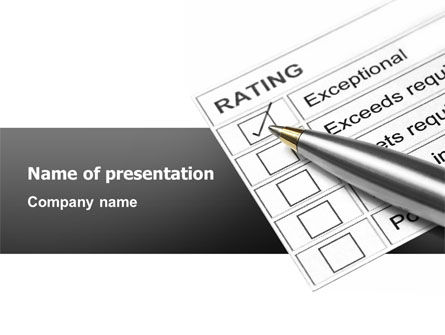 Education & Training: Rating PowerPoint Template #02840