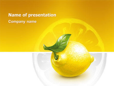 Agriculture: Yellow Lemon PowerPoint Template #02841