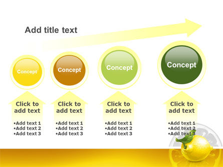 Yellow Lemon PowerPoint Template Slide 13