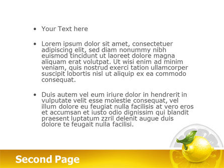Yellow Lemon PowerPoint Template Slide 2