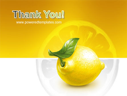 Yellow Lemon PowerPoint Template Slide 20
