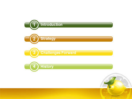 Yellow Lemon PowerPoint Template Slide 3