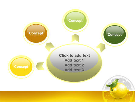 Yellow Lemon PowerPoint Template Slide 7