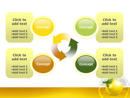 Yellow Lemon PowerPoint Template Slide 9