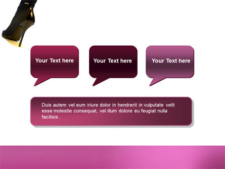 Female Fashion Shoes PowerPoint Template Slide 9