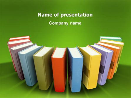 Education & Training: Books PowerPoint Template #02844