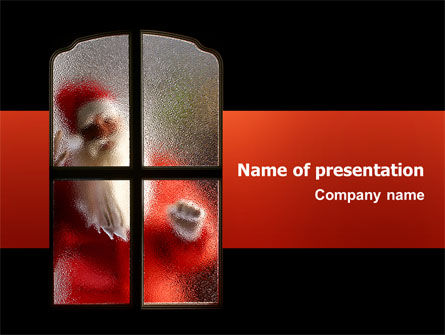 Santa Claus Coming PowerPoint Template, 02845, Holiday/Special Occasion — PoweredTemplate.com