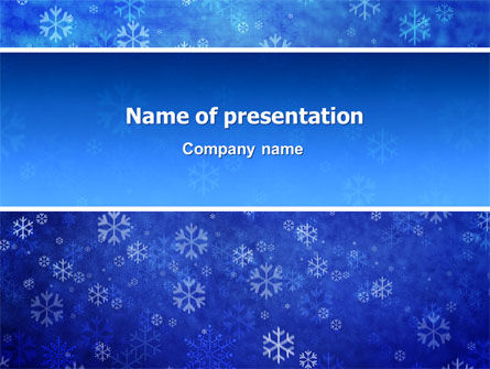 Nature & Environment: Snowflakes PowerPoint Template #02846