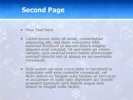 Snowflakes PowerPoint Template Slide 2