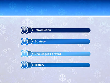 Snowflakes PowerPoint Template Slide 3
