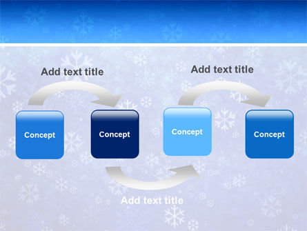 Snowflakes PowerPoint Template Slide 4