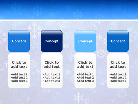 Snowflakes PowerPoint Template Slide 5