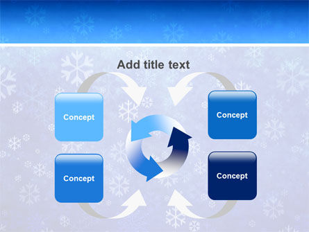 Snowflakes PowerPoint Template Slide 6