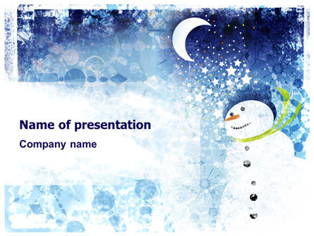 Holiday/Special Occasion: Snowman PowerPoint Template #02847