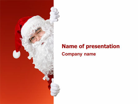 Holiday/Special Occasion: Santa Around the Corner PowerPoint Template #02849