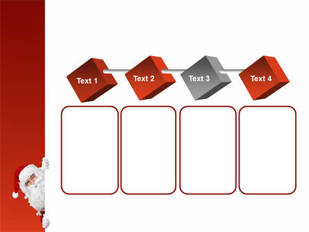 Santa Around the Corner PowerPoint Template Slide 18