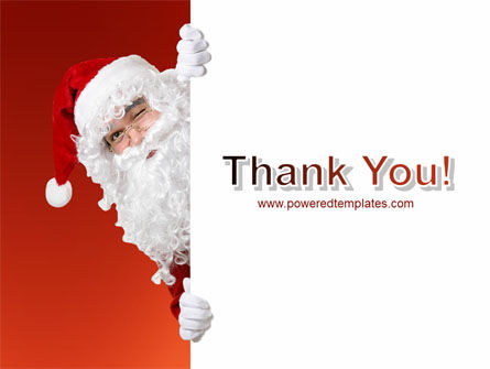 Santa Around the Corner PowerPoint Template Slide 20