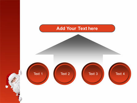 Santa Around the Corner PowerPoint Template Slide 8